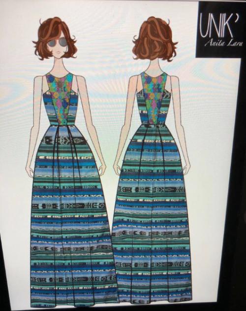 Vestido de Gaby Moreno diseñado por UNIK'. (Foto: Gaby Moreno)