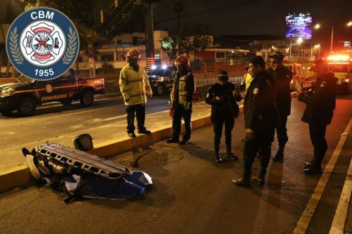 El hombre fue expulsado unos 20 metros abajo. (Foto: Bomberos Municipales)