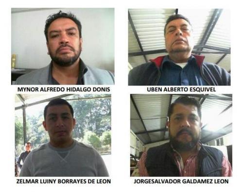 Los cuatro detenidos son señalados por delitos vinculados al tráfico de drogas hacia Estados Unidos. (Foto: DGSP)