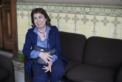Sandra Torres condujo la política social del gobierno de la UNE, pero sin rendir cuentas, pues no era funcionaria ni tenía un cargo oficial. (Foto: Wilder López/Soy502)
