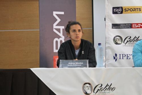Andrea Weedon, jugadora Profesional de tenis guatemalteco. (Foto: Cortesía: U. Galileo y Rackets&Golf)
