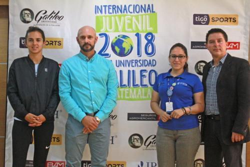 Organizadores del evento dieron a conocer los detalles de la IX Edición de Torneo Internacional de Tenis 2018. (Foto: cortesía U. Galileo y Rackets&Golf).