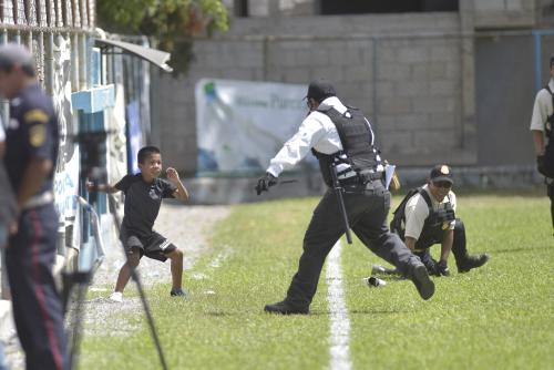 El invasor se vio acorralado y estuvo a punto de darse por vencido. (Foto: Sergio Muñoz/Nuestro Diario)