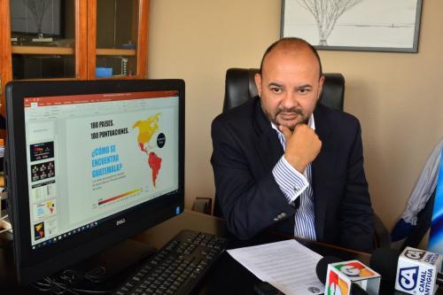 Los resultados del Índice de Percepción de Corrupción fueron presentados a nivel mundial este 21 de febrero. En Guatemala los dio a conocer Acción Ciudadana. (Foto: Jesús Alfonso/Soy502)