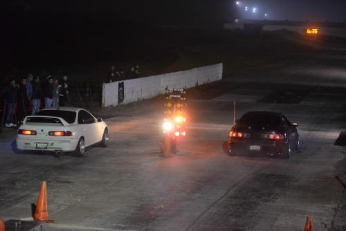 La línea de salida, donde tantas veces el semáforo les dio verde a pilotos para iniciar una carrera. (Foto: Wilder López)