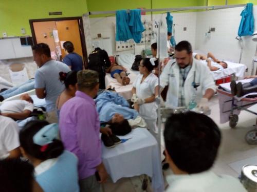 De los heridos fue necesario el traslado de 17 personas. (Foto: Conred)