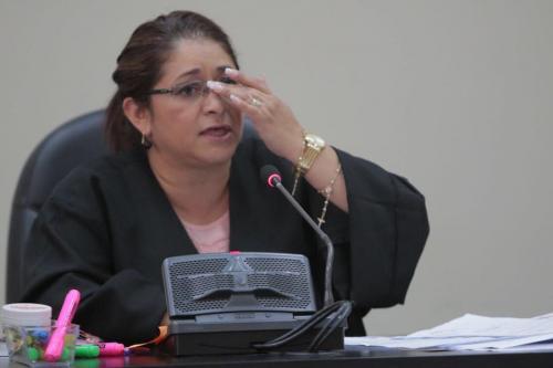 """La jueza Claudette Domínguez que levantó la orden de captura al general Erick Fernando Melgar Padilla, dijo que había sido """"sorprendida"""". (Foto: Alejandro Balán/soy502)"""