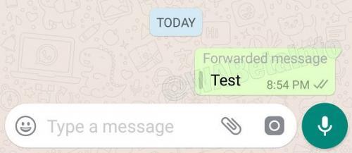 Así se vería la nueva función de WhatsApp que te avisaría si tu mensaje fue reenviado. (Foto: www.milenio.com)