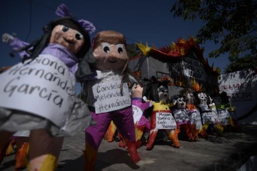 Así exigieron justicia por las niñas. (Foto: Wilder López/Soy502)
