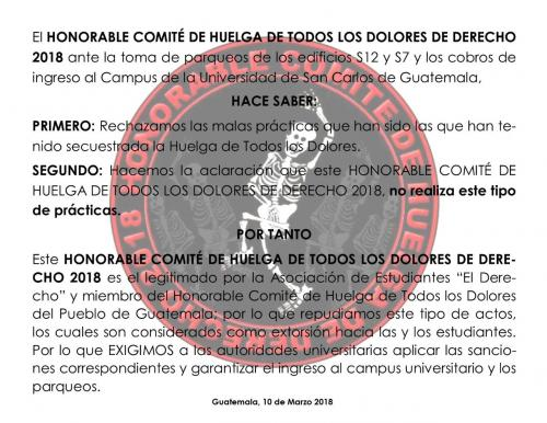 Este es el comunicado del Honorable. (Foto: captura pantalla)