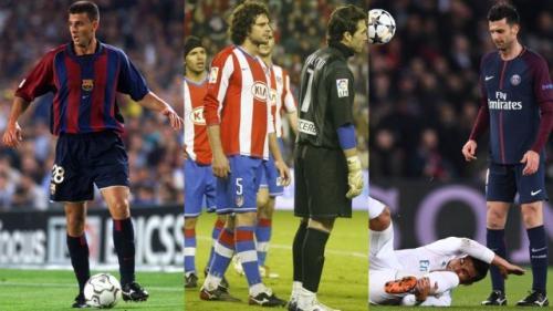 Casi 18 años separan la primera imagen de la tercera, en las que los zapatos de Thiago Motta son de la misma marca. (Foto: Marca)