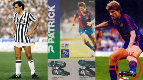 A la izquierda, Platini con sus Patrick Gold Cup. En el centro y la derecha, Laudrup con el FC Barcelona. (Foto: Marca)