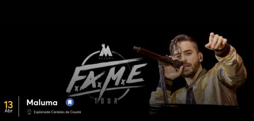 La nueva fecha del show de Maluma será el 13 de abril de 2018. (Foto: captura de pantalla)