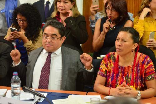 Jordán Rodas fue interrogado y cuestionado por varios diputados en la Comisión de Derechos Humanos. (Foto: Jesús Alfonso/Soy502)