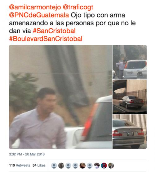 Esta es la secuencia de fotos que fue publicada en Twitter. (Foto: captura de pantalla)