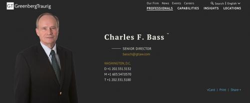 Imagen de Charles Bass en la web oficial de la firma de abogados. (Foto: GT)