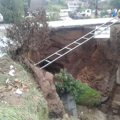 En San Juan Ostuncalco se reportan daños. (Foto: Conred)