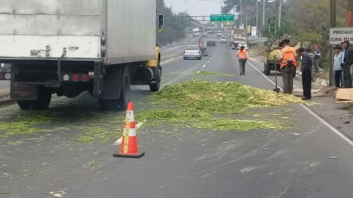 Así ayudaron los miembros de Provial a limpiar la ruta. (Foto: Provial)