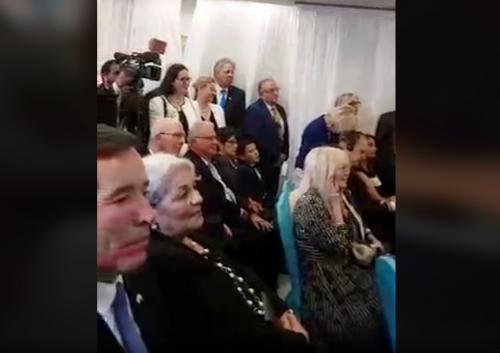 El mandatario viajó prácticamente con toda su familia. (Foto: captura de video)