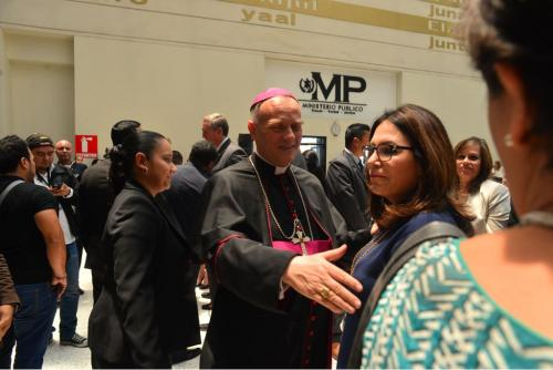 La lista de invitados también incluyó al Nuncio Apostólico. (Foto: Jesús Alfonso/Soy502)