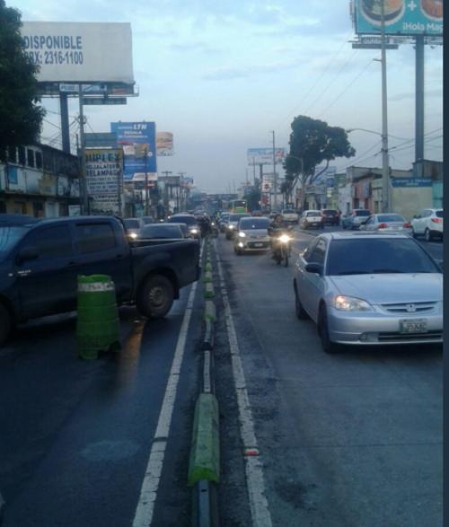 El tráfico es complicado en el área. (Foto: Dalia Santos/PMT)