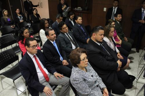Parte del equipo que se integra al MP para la gestión de María Consuelo Porras Argueta. (Foto: Jesús Alfonso/Soy502)