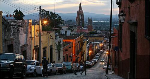 Vista de una de las calles de San Miguel Allende, Guanajuato. (Foto: New York Times)