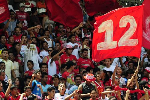 """""""La Doce"""" celebró el cuarto triunfo de Coatepeque en el torneo. (Foto: Nuestro Diario)"""