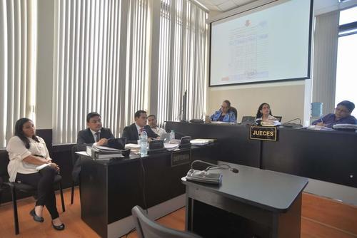 Vista de la audiencia donde el MP solicitó 12 años de prisión en contra de los 2 empleados de Pedro Muadi. (Foto: Wilder López/Soy502)