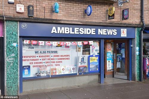 Imagen de la tienda donde probablemente fue comprado el billete ganador. (Foto: Daily Mail)
