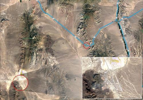 El Área 51 esta rodeada por kilómetros de desierto. (Foto: dailymail.co.uk)