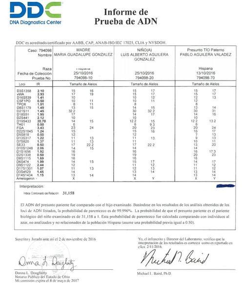 La prueba de ADN confirma que Luis Alberto Aguilera es hijo de Juan Gabriel. (Foto: Primer Impacto)