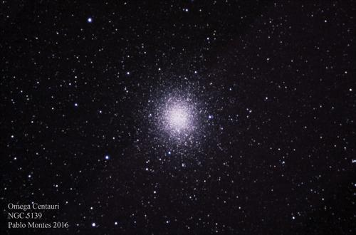 Cúmulo globular Omega Centauri. (Foto: Pablo Montes/cortesía Edgar Castro Bathen)