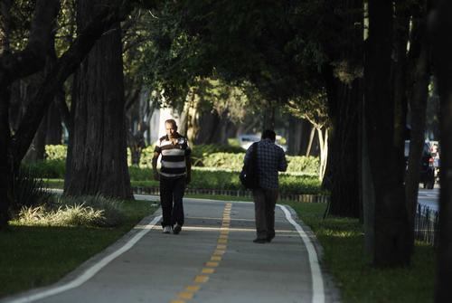 Este es el espacio inaugurado hoy por la Municipalidad para los ciclistas. (Foto: Soy502)