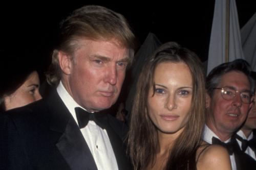 Donald Trump y Melania en 1998. (Foto: Ron Galella/WireImage)