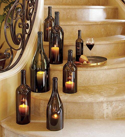 Recuerda colocar algún recipiente debajo de las candelas para evitar que se derrame la cera. (Foto: Pinterest)