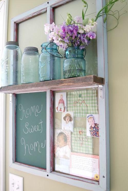 Cuando utilices estantes, tómate algo de tiempo para diseñar cómo los colocarás en la pared, dado que debe lucir equilibrado. (Foto: Pinterest)