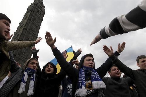 Protestas siguen por la intervención rusa en Ucrania. (Foto:Efe)