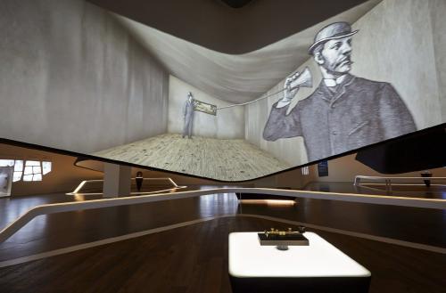 Una proyección en un techo cónico del Museo de Samsung que ha inaugurado en Seúl. (Foto: EFE)