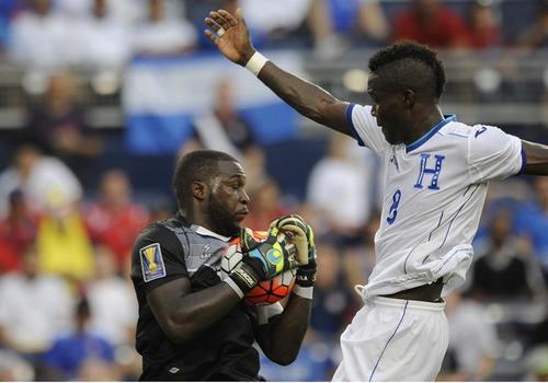 Imagen del juego Haití vs Honduras, en la Copa Oro. (Foto: EFE)
