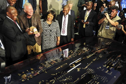 Homo naledi fue descubierto en 2013 en la cámara Dinaledi de la cueva Rising Star de Sudáfrica (cerca de Johannesburgo) y sus restos aparecieron entre más de 1,550 fósiles, lo que convierte a este yacimiento en un tesoro paleontológico. (FOTO: EFE/Thapelo Morebudi / Govt Communic)