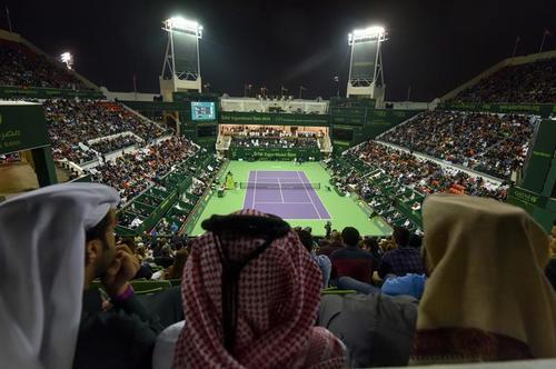El escenario de la gran final en Doha. (Foto: EFE)