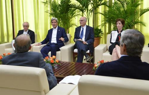 El Secretario de Estado de Estados Unidos, John Kerry, se reunió con los negociadores en La Habana, Cuba. (Foto: EFE)
