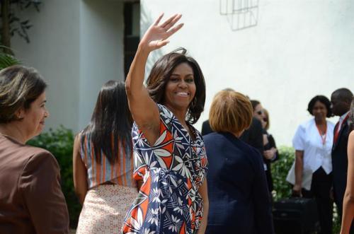 Michelle Obama también tiene reuniones programadas en la visita a Argentina. (Foto: EFE)