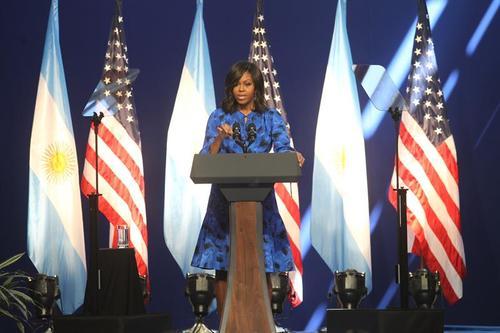 La primera dama se encuentra de gira por Latinoamérica con el presidente Barack Obama. (Foto: EFE)