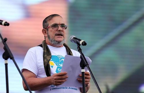 "Rodrigo Londoño Echeverri, alias ""Timochenko"" durante la Décima Conferencia Guerrillera. (Foto: Mauricio Duenas Castañeda/EFE)"