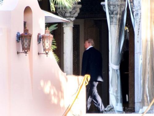 Trump en el club privado Mar-A-Lago. (Foto: USA TODAY)