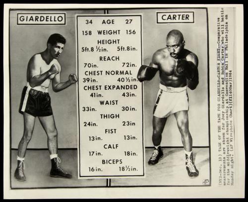 Este fue el cartel que se utilizó en 1964 para anunciar la pelea entre Joey Giardello y Rubin Carter (Foto: Archivo)