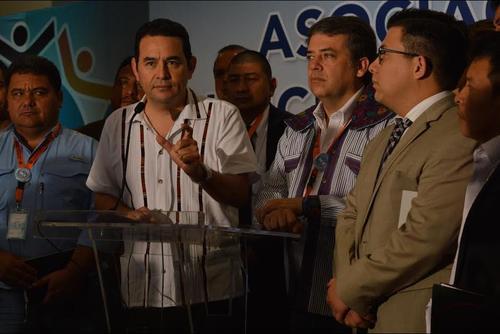 Morales participó en la Asamblea Extraordinaria de los alcaldes del país. (Foto: María Olga Vega/Soy502)