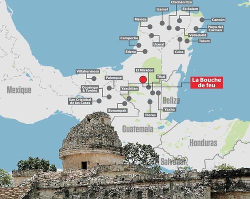 Esta infografía fue publicada en el Journal de Montreal para señalar la supuesta ubicación de la ciudad Maya descubierta. (Foto: journaldemontreal.com)